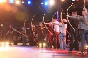 Intuitives Bogenschießen im Zirkus