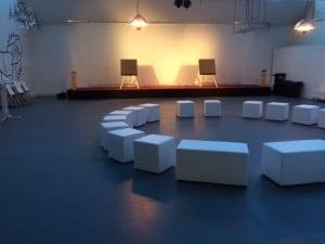 Setting für Intuitives Bogenschießen zum Thema Leadership im Forum Factory